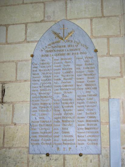 Monument 14-18 dans Notre Dame